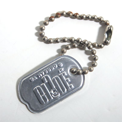 1964 GI Joe Bead Chain Dog Tag