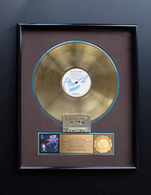 Pat Benatar RIAA Gold Record Award Wide Awake In Dreamland