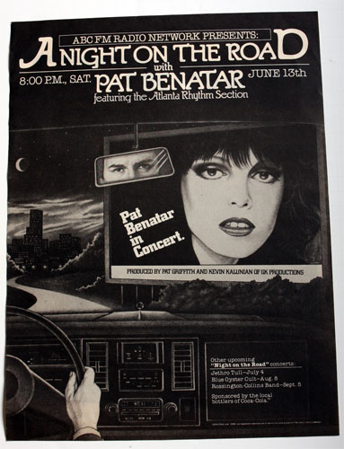 Pat Benatar A Night On The Road Ad