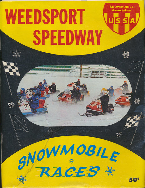 Weedsport Speedway Snowmobile Races magazine