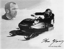 Autographed photo - Arctic Cat 1973 EXT Ken Young Boonville
