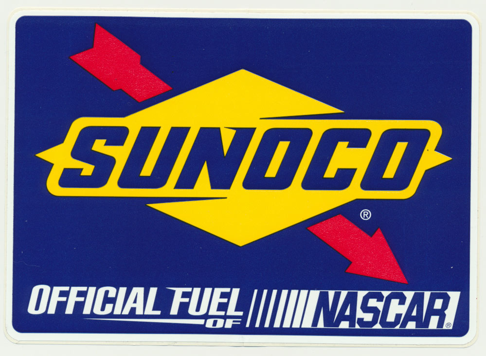 Sunoco NASCAR sticker