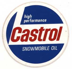 Castrol Snowmobile Oil sticker - vintage