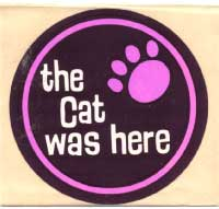 The Cat Was Here - original promo sticker 1970's