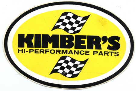 Kimbers high performance parts sticker 1970's