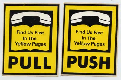 Yellow Pages stickers